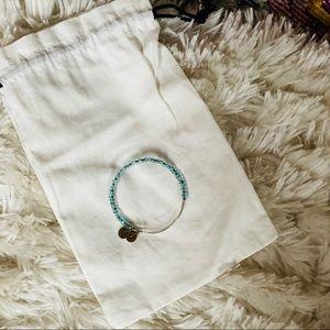 Alex and Ani Sea Glass Beaded Bracelet